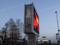 P10mm Outdoor Double Side single column LED Screen