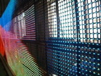 P20mm Outdoor full color Curtain Mesh LED Display