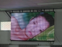 P25mm Outdoor full color Curtain Mesh LED Display
